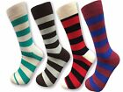 4,8,12 Pairs Men's Dress Socks Cotton Fashion Crew Multi-Color Casual Size 10-13