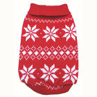 887 XS~L Red Snowflakes Sweater Coat Dress/ Dog Clothes Sweatshirt Jacket -N