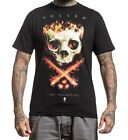 PS Sullen Men's Dominic Holmes Flaming Skull T-Shirt Black SCM0027-BK