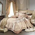 MAJESTY Duvet Cover Sheets Pillow Cases Bedding Set (Queen, King) - Gold