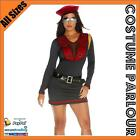 Womens Military Army Austin Powers Soviet Union Fancy Dress Costume All Sizes