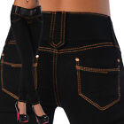 Sexy New Women's Black Stretchy Jeans Trousers Skinny Slim Incl. Belt Y 525