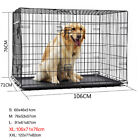 Cages Crates - Pet Dog Cage Wire Folding Crate Dog Cage Suitcase Exercise Playpen Durable Cage