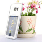 Clear TPU With Card Slot For Credit Card Case SAM S7 / S7 EDGE