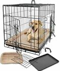 XL Dog Kennel Cage Crate House Playpen / Fleece Bed Cushion Warm Soft Mat Pad
