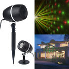Xmas R&G Moving Star Laser Projector Stage Light Party Garden House Landscape