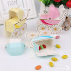 10x Baby Shower Candy Gift Boxes Pram Carriage Wedding Favors Stroller Shape DIY