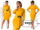 Beautiful Stylish Woman Dress Jersey 3/4 Sleeve Knee-Length- Plus size
