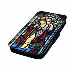 Saint Christopher Stained Glass - Printed Faux Leather Flip Phone Cover Case