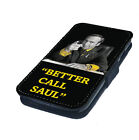 Better Call Saul Yellow/Black Printed Faux Leather Flip Phone Cover Case
