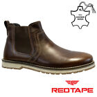 MENS RED TAPE LEATHER CHELSEA DEALER MILITARY COWBOY BIKER ANKLE WORK BOOTS SIZE