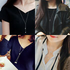 Women's Clothing Accessories Pendant Necklace Long silver Sweater Chain Gifts