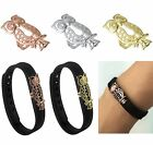 Metal Stainless Steel Bling Cat Owl Band Cover Charm For Fitbit Flex 2 Accessory