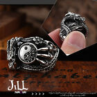 Punk visual Rock mortal kombat dragon Tai-chi titanium steel band ring【J1A612】