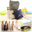 3x Fashion Women Girl Retro Zipper Coin Bag Purse Wallet Card Case Handbag Gifts