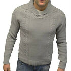Men's Tom Tompson Chunky Knit Shawl Neck Jumper, Navy or Grey, BNWT