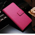 Luxury Wallet Cover Flip Card Slot Genuine Real Leather Phone Case For LG Series