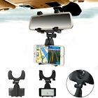 New Adjustable Car Rearview Mirror Clip Mount Holder Bracket For Cell Phone GPS