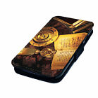Book Compass Candle Zodiac Design - Printed Faux Leather Flip Phone Cover Case