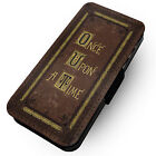 Once Upon A Time - Printed Faux Leather Flip Phone Cover Case - Fairy Tale