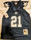 DALLAS COWBOYS 21 DEION SANDERS AUTHENTIC THROWBACK JERSEY SEWN NWT