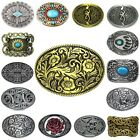 Vintage Rodeo Flower Floral Turquoise Leather Belt Buckle Lot Cowboy Cowgirl 1PC