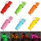 LED Shoelaces Flashing Luminous Light Up Glow Strap Shoe Laces Party Disco Xmas