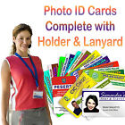 Photo ID Cards with Holder and Lanyard with Safety Release.