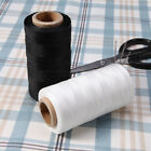 Classic White/Black 260m 0.8mm Leather Sewing Waxed Flat Thread