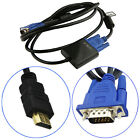HDMI to VGA Converter Male to Male Kabel 1080P HD Für HDTV PC Laptop Tablet PS3
