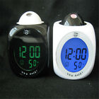 Projection Alarm Clock LCD Voice Talking LED Digital Temperature Multi function