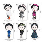 Fashion Cute Little Girl Embroidered Iron-On Applique Patch