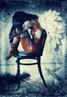 STUNNING SEXY WOMAN ANGEL CANVAS #121 ROMANTIC GRUNGE A1 A3 CANVAS PICTURES