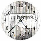 """OKLAHOMA RUSTIC HOME STATE CLOCK - Large 10.5"""" Wall Clock - 2246"""