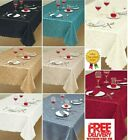Premium Luxury Damask Fabric TableCloth,All Sizes And Shapes,Top Quality Classic
