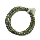 Recycled Glass Beads African Krobo Ghana Handmade Tubes Charcoal Green 2 Sizes