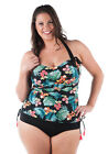Tropical Halter Neck One Piece Swimsuit with Padded Bra