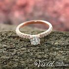 Certified Diamond Engagement Ring XMAS 14k Gold 0.89 CT Size 6 SI F-G Enhanced