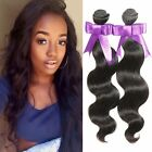 Brazilian Virgin Body Wave Weave 100% Human Hair Wavy Extensions Natural Color