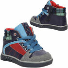 NEW Boys Navy Blue Shoes HASBY HAS-S2002 Ankle Boots Zip Shoe Shoelace