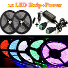 2x 5M SMD5050 300LEDs IP65 Multi-Color LED Strip Waterproof +120W Power Supply