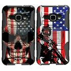 For Samsung Galaxy J Series Phone Case Hybrid Holster Clip Armor Black US Flag