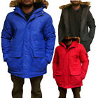 New Detachable Fur Collar Hooded Parka Jacket  Mens Size