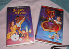 "Two VHS Disney movies.  The Beauty and The Beats"" & ""The Enchanted Christmas"""