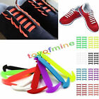 16pcs Lazy No Tie Shoelaces Elastic Silicon Shoe Laces For Running Sneakers New