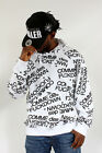 COMME des f**kdown Print Hoodie Hip Is Hop Money Time White & Black Print