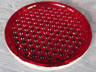 Large nobby Cherry Red pressed glass switch signal reflector. Corning ?