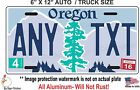 Oregon Novelty Aluminum State License Plate - CUSTOM, PERSONALIZED AUTO 6 X 12