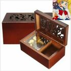 Wooden Rectangle Carving Jewelry Music Box: Sailor Moon Moonlight Densetsu