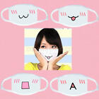 Mens Womens Cartoon Cycling Anti-Dust Cotton Mouth Face Mask Respirator White